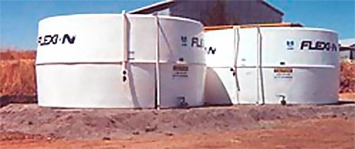 Liquid fertiliser tanks in Western Australia fitted with Liquidators